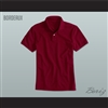 Men's Solid Color Bordeaux Polo Shirt