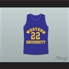 Anfernee Hardaway Butch McRae Western University Basketball Jersey Blue Chips Movie