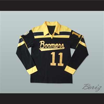 Calgary Boomers Long Sleeve Football Soccer Polo Shirt Jersey