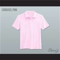 Men's Solid Color Carousel Pink Polo Shirt