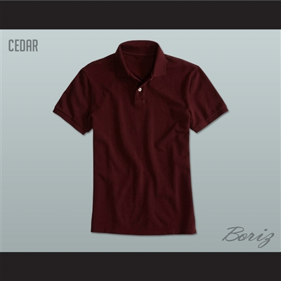 Men's Solid Color Cedar Polo Shirt