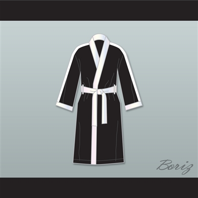 Clubber Lang World Heavyweight Champ Black Satin Full Boxing Robe