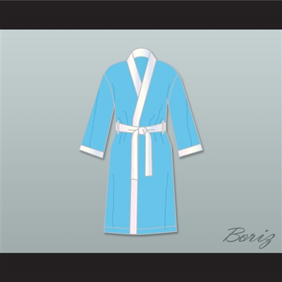Clubber Lang South Side Slugger Light Blue Satin Full Boxing Robe