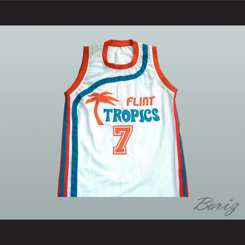 eb1697a74636 Flint Tropics 7 Coffee Black Basketball Jersey Semi Pro Team