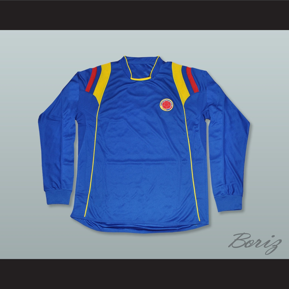 online retailer 77c70 77695 Pablo Escobar 2 Colombia Blue Long Sleeve Football Soccer Shirt Jersey