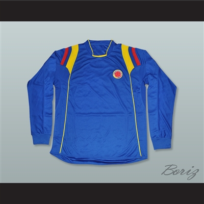 Pablo Escobar 2 Colombia Blue Long Sleeve Football Soccer Shirt Jersey