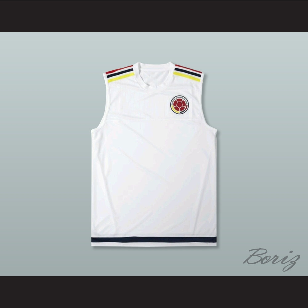 4faf99292f0 Colombia White Football Soccer Shirt Jersey