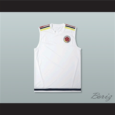 Colombia White Football Soccer Shirt Jersey