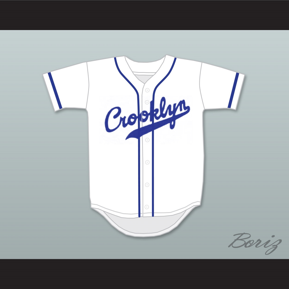 save off c6698 0d81c Crooklyn Blue On White Baseball Jersey Any Name or Number