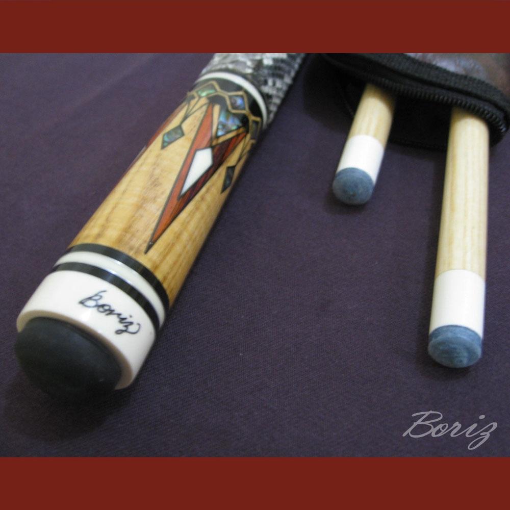 Boriz Billiards Snake Skin Grip Pool Cue Stick Original Inlay Artwork 79894ade2