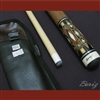 Boriz Billiards Brown Snake Skin Leather Grip Pool Cue Stick Original Inlay Artwork