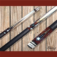 Boriz Billiards Pool Cue Stick Classic Style Baseball Theme 008