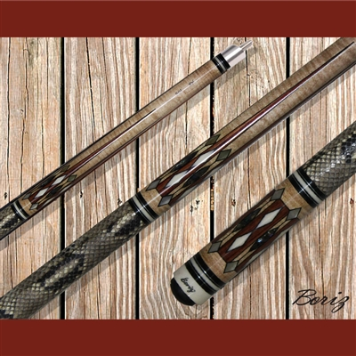 Boriz Billiards Pool Cue Stick Classic Style Serpent Skin AB 105