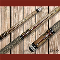 Boriz Billiards Pool Cue Stick Classic Style Serpent Skin AB 107