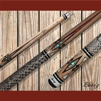 Boriz Billiards Pool Cue Stick Classic Style Serpent Skin AB 131
