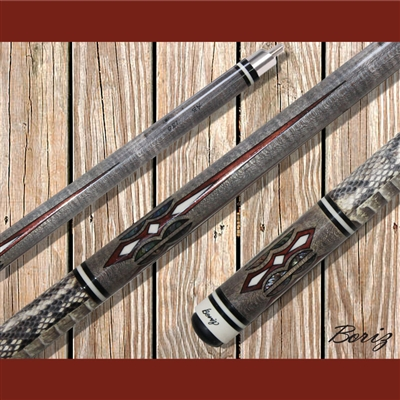 Boriz Billiards Pool Cue Stick Classic Style Serpent Skin AB 138