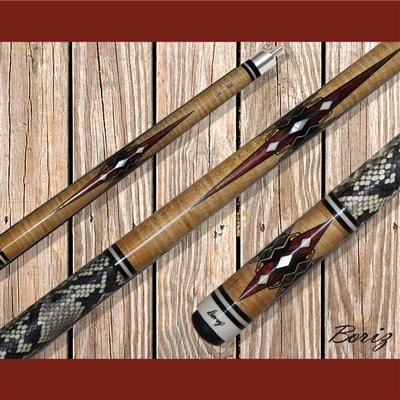 Boriz Billiards Pool Cue Stick Classic Style Serpent Skin AB 141