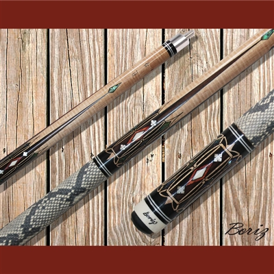 Boriz Billiards Pool Cue Stick Classic Style Serpent Skin AB 170