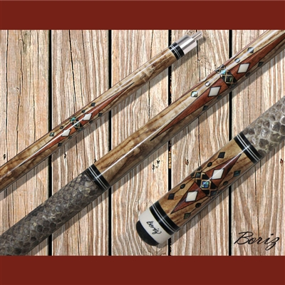 Boriz Billiards Pool Cue Stick Classic Style Serpent Skin AB 210