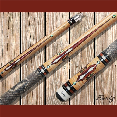 Boriz Billiards Pool Cue Stick Classic Style Serpent Skin AB 96