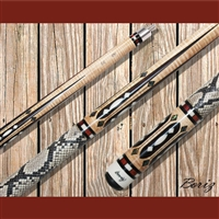 Boriz Billiards Pool Cue Stick Classic Style Serpent Skin AB 99
