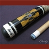Boriz Billiards Laminated Snake Skin Grip Pool Cue Stick Original Inlay Artwork