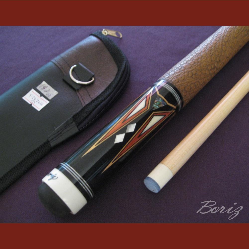 Boriz Billiards Brown Snake Skin Leather Grip Pool Cue