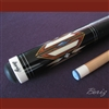 Boriz Billiards Black Leather Grip Pool Cue Stick Original Inlay Artwork