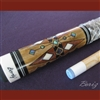 Boriz Billiards Snake Skin Grip Pool Cue Stick Original Inlay Artwork