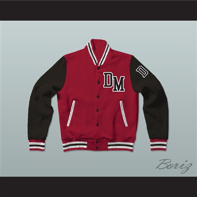 Dirty Money Red Varsity Letterman Jacket-Style Sweatshirt