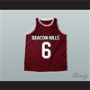 Danny Mahealani 6 Beacon Hills Basketball Jersey Teen Wolf