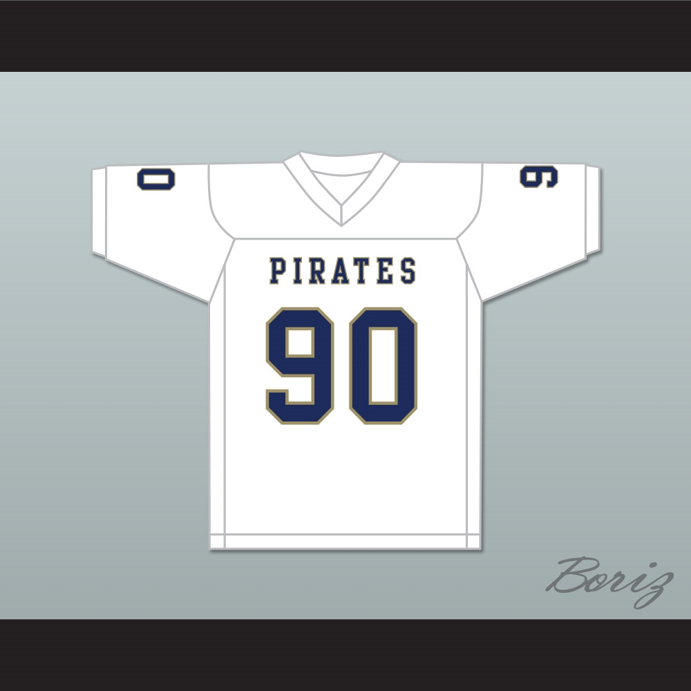 Dantrell Barkley 90 Independence Community College Pirates White ... eee2caf1a