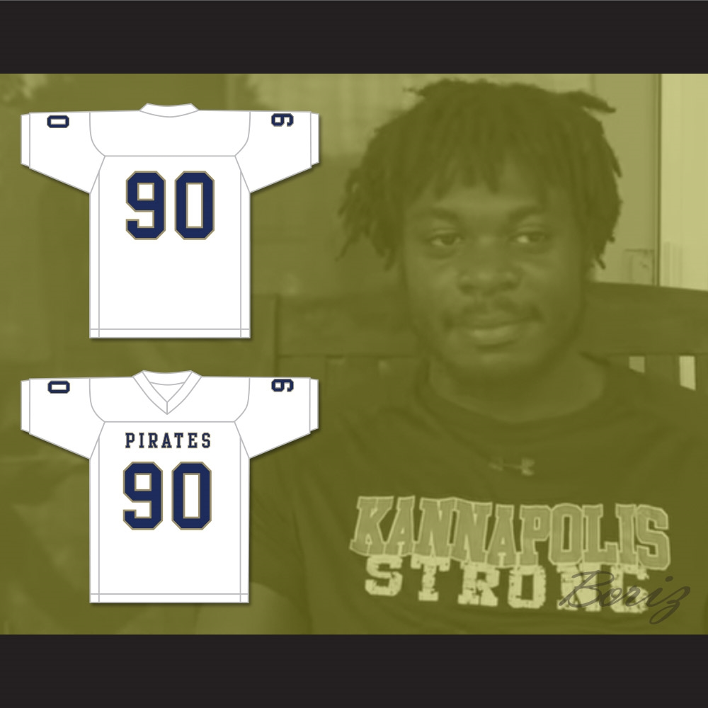 Dantrell Barkley 90 Independence Community College Pirates White Football  Jersey f683ab01a