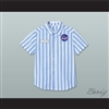 Dexter Good Burger Light Blue/ White Striped Polo Shirt 2