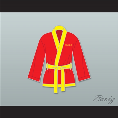 Ivan Drago Russian Red Satin Half Boxing Robe