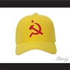 Drago Hammer and Sickle USSR CCCP Russia Yellow Baseball Hat