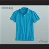 Men's Solid Color Eastern Blue Polo Shirt