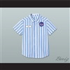 Ed Good Burger Light Blue/ White Striped Polo Shirt 2