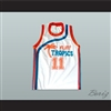 Flint Tropics 11 Ed Monix Basketball Jersey Semi Pro Team