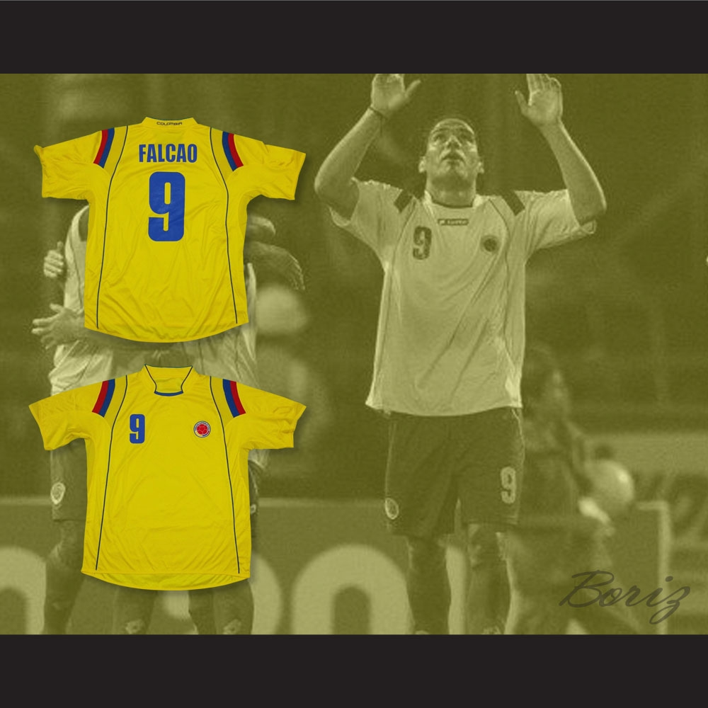 97e0297a288 Falcao 9 Colombia Home Football Soccer Shirt Jersey