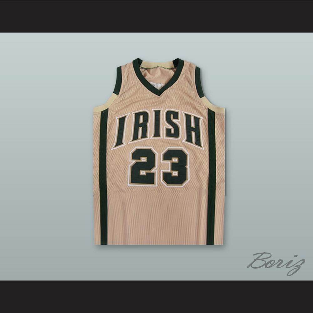 ab4efa174619 Lebron James Fighting Irish High School Tan Basketball Jersey