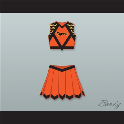Carly Davidson Gerald R. Ford High School Tigers Cheerleader Uniform Fired Up! Design 3