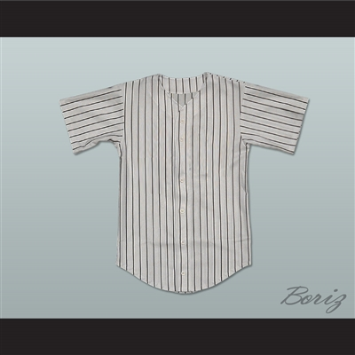 The Warriors Baseball Furies Pinstriped Gray Baseball Jersey