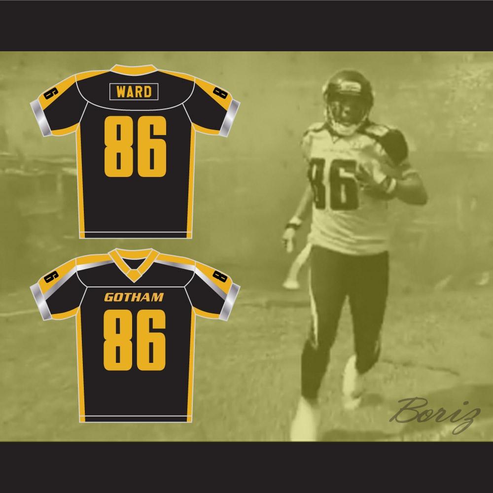 88c29a9d04b ... Gotham Rogues Hines Ward 86 Black Football Jersey ...