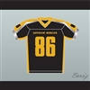 Gotham Rogues Hines Ward 86 Black Football Jersey