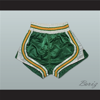 Green-Yellow-White Retro Style Basketball Shorts