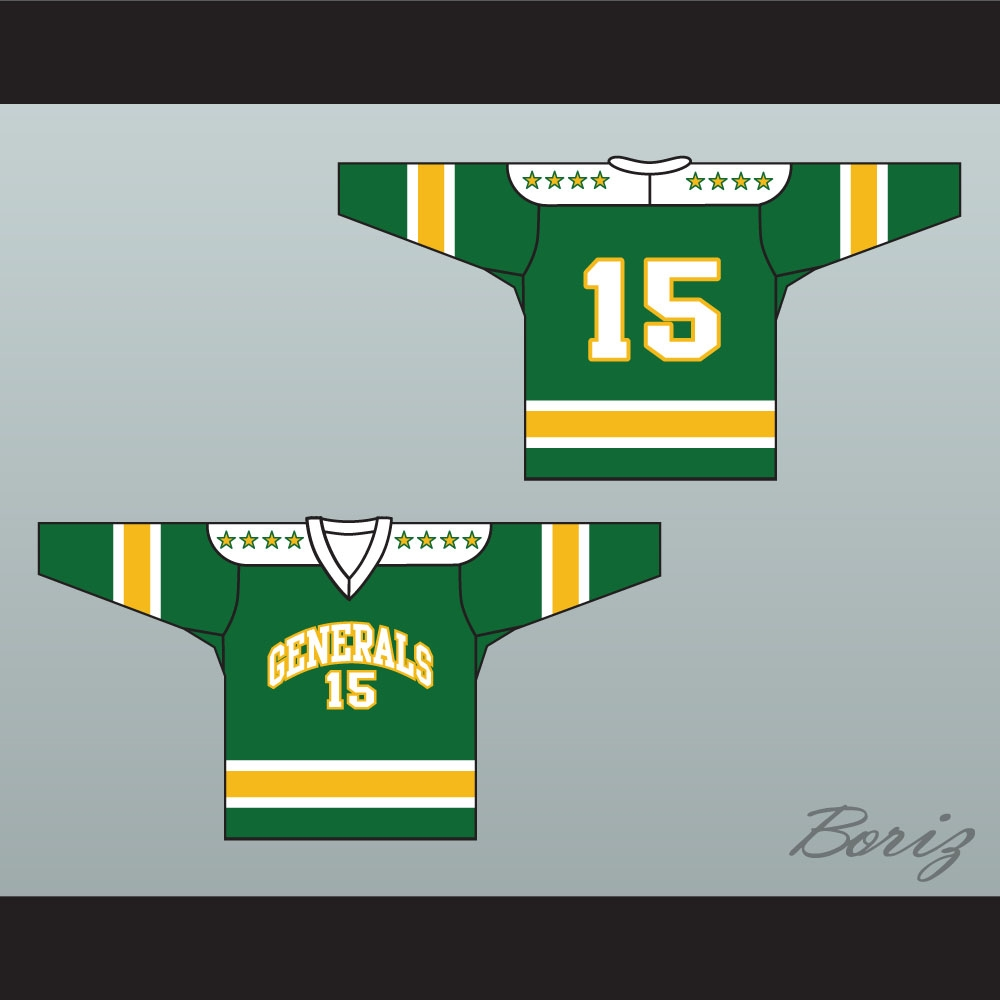online store 898d8 3ebe0 1960's Style EHL Greensboro Generals Green Hockey Jersey