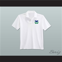 Hartford Whalers Coaching Staff Embroidered Logo Polo Shirt