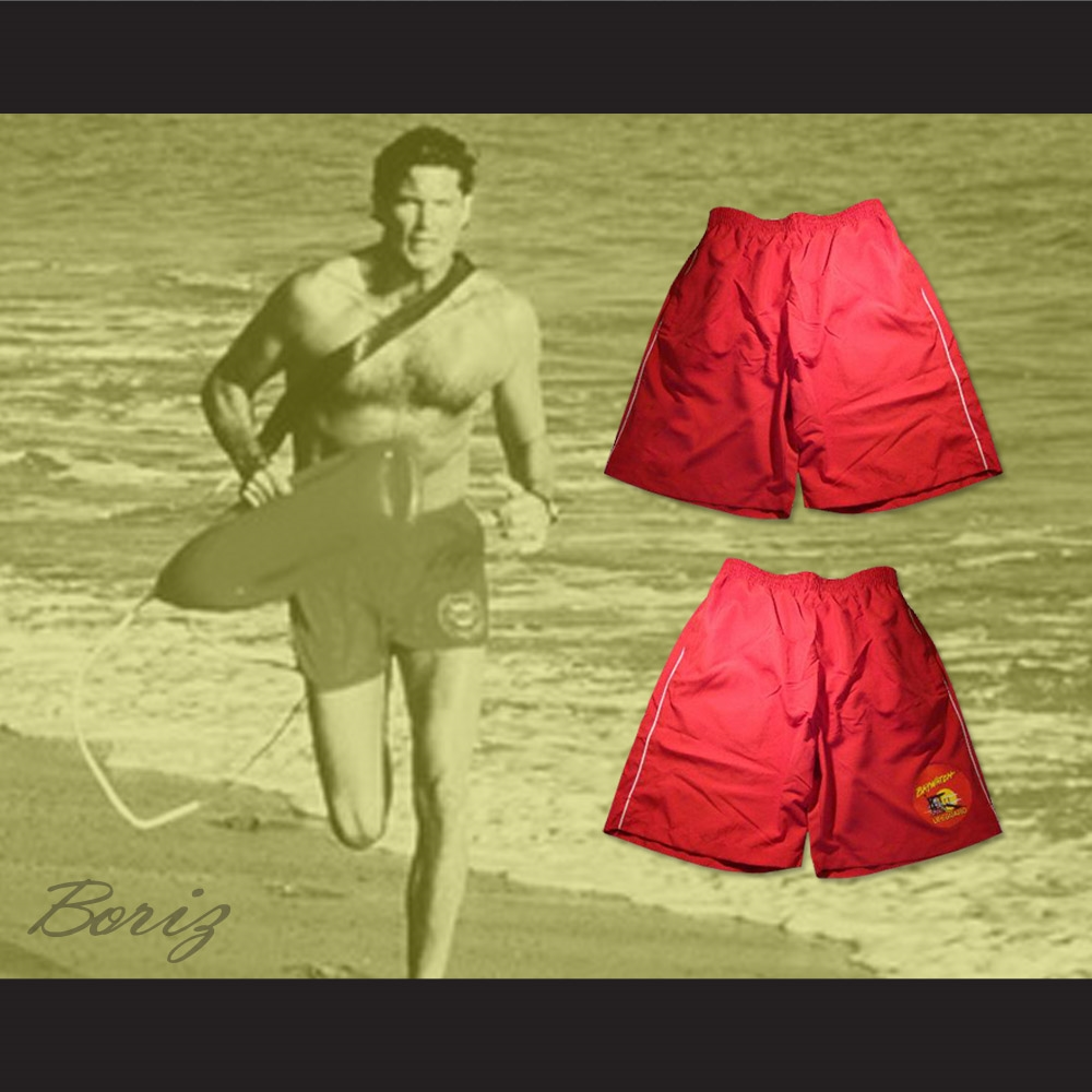 9078b3b5f3 David Hasselhoff Mitch Buchannon Baywatch Lifeguard Shorts