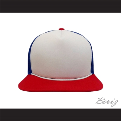 Dustin Henderson Stranger Things Red/White/Blue Trucker Mesh Baseball Hat